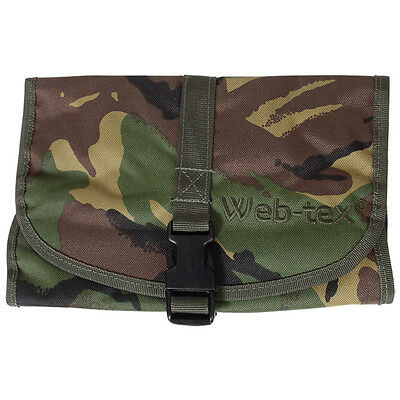 Web-Tex Folding Compact Army Cadet Wash Bag Pack Hiking Camping Travel Dpm Camo