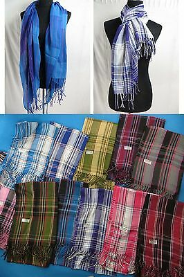 wholesale lot of 10 pashmina scarf soft long MEN WOMEN shawl wrap US SELLER