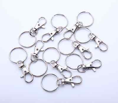 Lot of 25 50 100 Lobster Clasps Swivel Trigger Clips Snap Hooks Bag Key Ring