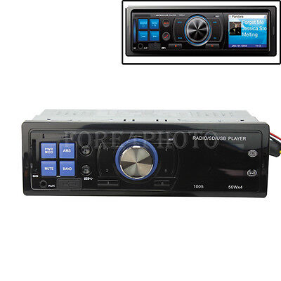 Hot Car Audio Stereo In-Dash FM Receiver Vehicle MP3 Player USB SD Input AUX