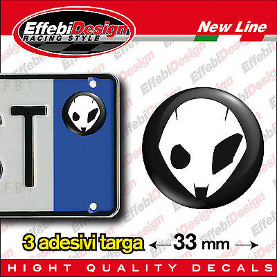 ADESIVI stickers bollini targa/plate BMW alieno Gs adventure s1000rr k rt r1200r