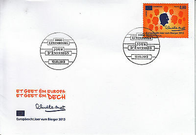 Luxembourg Luxemburg 2013 FDC European Year of Citizen 1v Set Cover Citizens