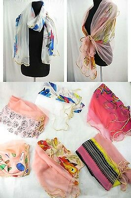*US SELLER*wholesale lot of 12 soft wide long scarf shawls