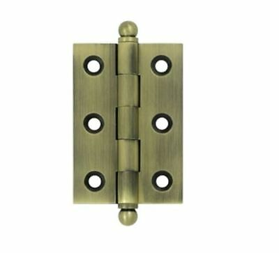 "Cabinet Hinge 2-1/2"" X 1-11/16 with Ball Tips Solid Brass in 10 Finishes By FPL"