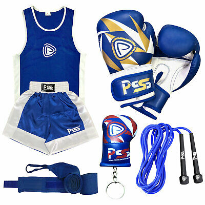 Kids high quality boxing uniform set top-short + boxing gloves (1007) 3-14 year