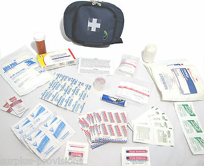 New Camping / Hiking First Aid Kit & Blue Pouch