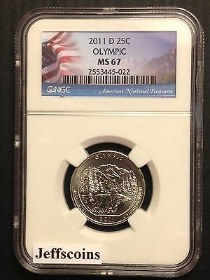2011 D Mint NGC MS66 Olympic National Park Quarter US America the Beautiful #8