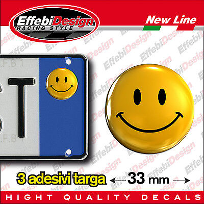ADESIVI stickers bollini targa/plate SMILE, Comics, sorriso, Emoticon, Happy