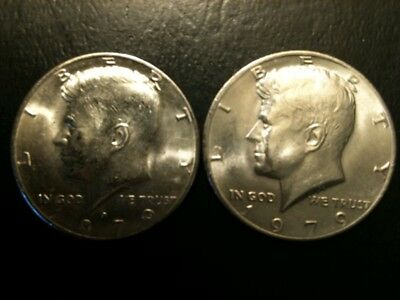 1979 P&D Kennedy Half Dollar Set AU/BU Clad no Silver 50 Cent About UNC MS Mint