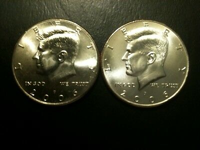 2006 P&D Kennedy Half Dollar Set GEM BU From MINT ROLL Clad 50 Cent