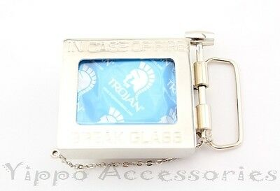 In Case of Fire Break Glass Condom Holder Metal Fashion Belt Buckle