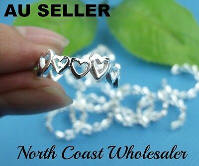 925 Sterling Silver (Plated) Heart Toe Ring