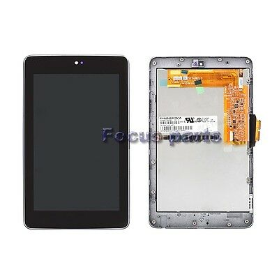 Touch Screen Digitizer LCD Display Frame Assmebly For Asus Google Nexus 7 ME370T