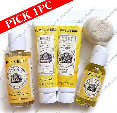 1pc Burt's Bees Baby Bee Travel size lotion shampoo wash ointment oil soap