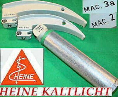 Heine Kaltlicht Fiber Optic Intubation Mac 2/3 Spatel Laryngoscope Emergency Naw