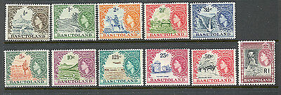 1961 Basutoland  Sc#72-82 Complete Set -  Mint, Hinged