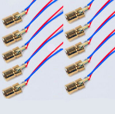 10PCS 650nm 5mW 5V Laser Red Dot Module Red Laser Diode Laser Pointer