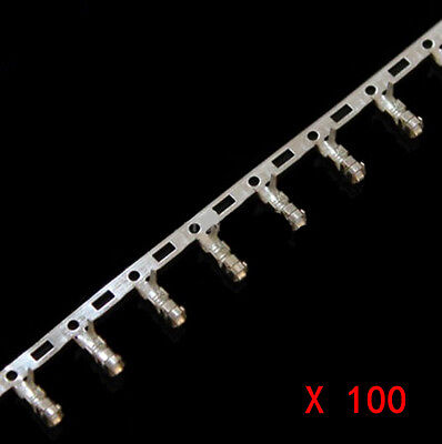 100Pcs XH2.54mm Female Pin Connector Terminal for Dupont Jumper Wire Cable