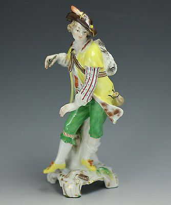 c1900s KPM Porcelain Figurine of Gentleman in Yellow Coat - handpainted