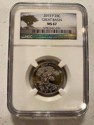 2013 P Mint Clad NGC MS67 Great Basin National Park QUARTER Nevada ATB Certified