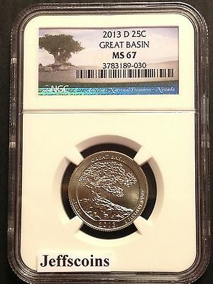 2013 D Mint Clad NGC MS67 Great Basin National Park QUARTER Nevada ATB Certified