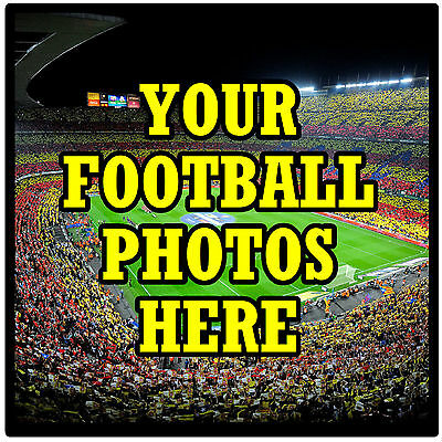 Personalised Coasters - Own Football Photo's  - Set Of 4 Coasters - New - Gift