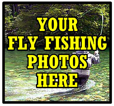Personalised Coasters - Own Fly Fishing Photo's  - Set Of 4 Coasters - Gift  New