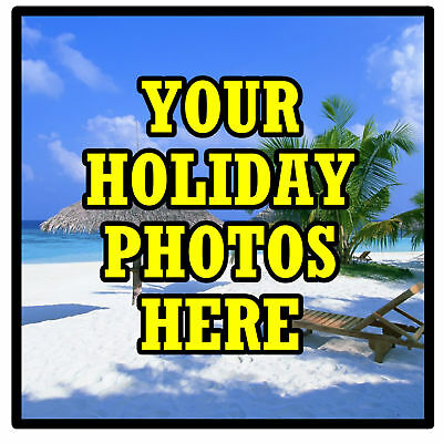 Personalised Coasters - Own Holiday Photo's  - Set Of 4 Coasters - Gift - New