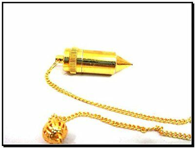 Rare Metal Bullet Pendulum Open-able Heavy Healing Dowsing Perfect Result A+