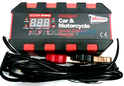 6V/12V 10amp Smart Trickle intelligent 40-200AH Car Leisure Battery Charger.IBC4