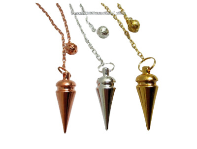 Unique New 3 Metal Pendulum Copper Gold Silver Plating Healing Dowsing Pagan A+