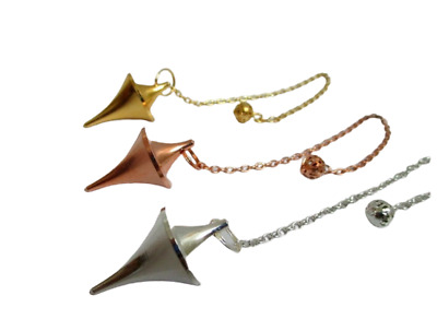 Cone Point 3 Metal Pendulum Copper Gold Silver Plating Healing Dowsing Divine A+