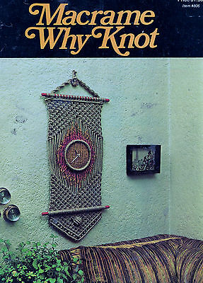 Macrame Why Knot Book Wall Hanging Plant Hanger Wine Rack