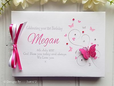 Personalised Butterfly Any Colour* Any Occasion * Guest Book* Scrapbook Album