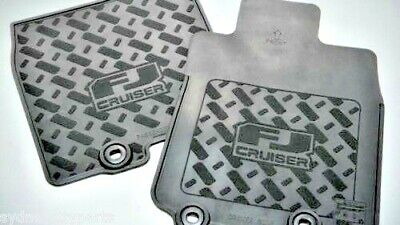 Toyota Fj Cruiser Rubber Floor Mats Front Pair Gsj15 March 2011> New Genuine