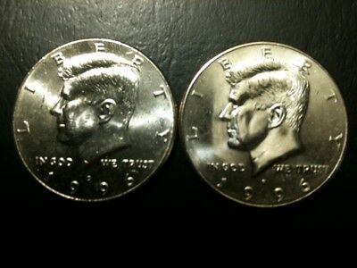 1996 P&D Kennedy Half Dollar UNC Set BU Clad no Silver 50 Cent MS Mint US Coin