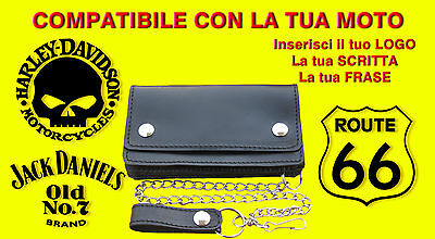 Borsello bikers da personalizzare Route 66 portafoglio Wallet Leather geldbörse