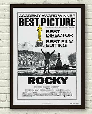 Vintage Rocky 1 Boxing Movie Film Poster Print Picture A3 A4