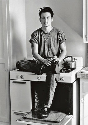Young Johnny Depp BW Cooker POSTER