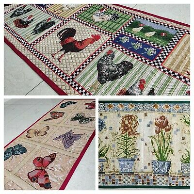 BuyElegant Machine Washable Kitchen Rug Anti Skid Jacquard Rubber Back Absorbent