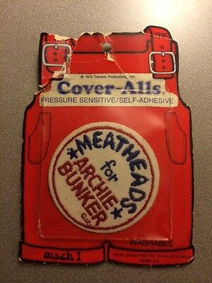Vintage 1972 Archie Bunker Cloth Iron-On Patch - New In Package