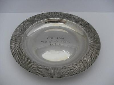 SUPERB STERLING SILVER TRAY DISH London 1982