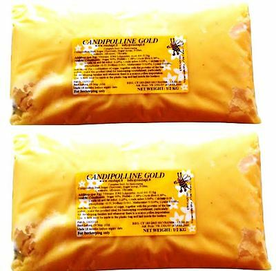 [UK] Beekeeping 0.5 KG Candipolline Gold Specialist Pollen Sub Bee Food: 8 Pcs