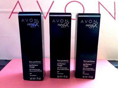 Lot of 3 Avon MAGIX Face Perfector Pore/Oil Minimizing HD Primer SPF 20 NIB