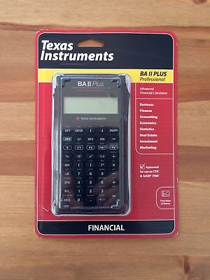 Texas Instruments TI BA II Plus Professional Financial Calculator, Brand New,wty