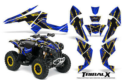 Can-Am Renegade Graphics Kit by CreatorX Decals Stickers TRIBALX YBL