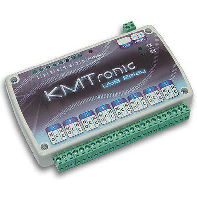 KMTronic USB 8 Channel Relay Board, RS232 Serial controlled MICROCHIP CDC