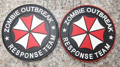 Resident Evil Umbrella Corporation ZRT ZOMBIE RESPONSE TEAM 3D PVC Patch