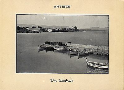 Antique print :Antibes Alpes-Maritimes France / gravure 1900