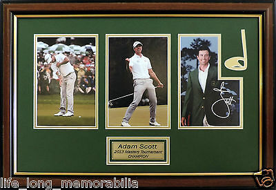 Adam Scott Us Masters Golf Champion 2013 Signed And Framed